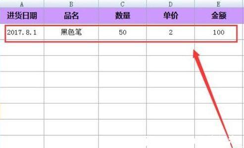 用excel怎么制作超市品名表格